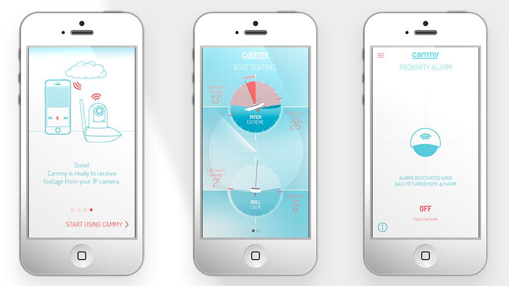 Cammy mobile app screens – Steve Santer - Digital Art Direction and Motion Design