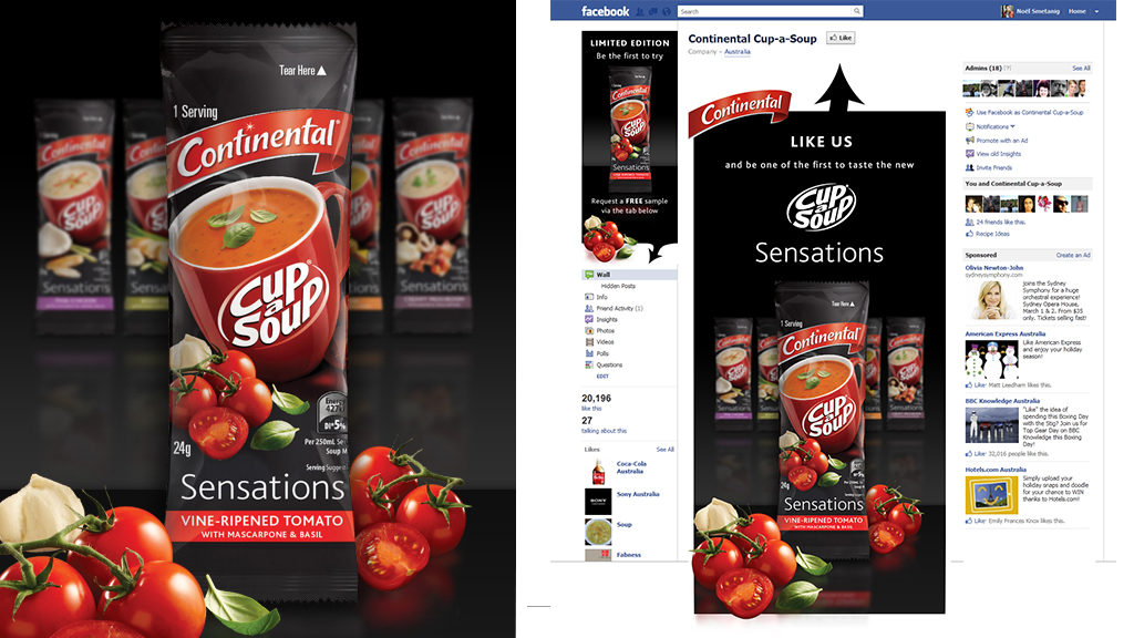 Continental Cup-a-Soup Facebook Sampling Campaign
