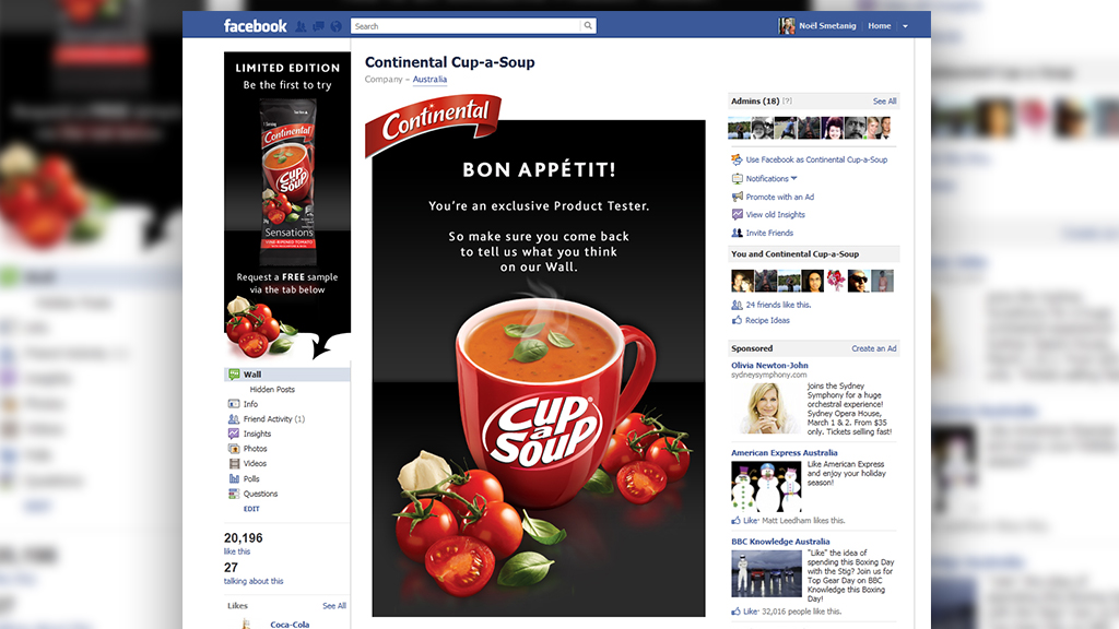 Continental Cup-a-Soup Face book Sampling Campaign 2