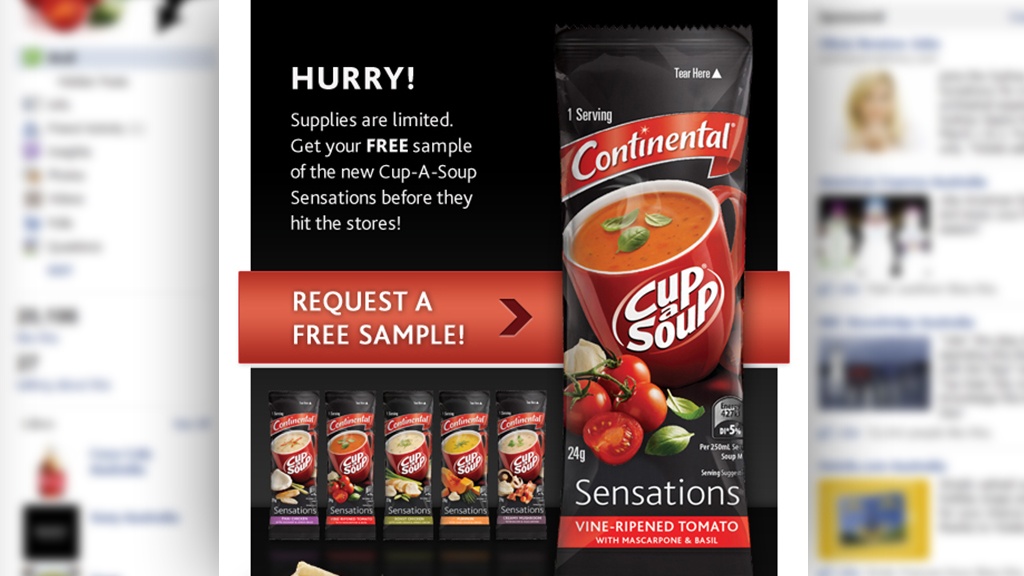 Continental Cup-a-Soup Face book Sampling Campaign 3