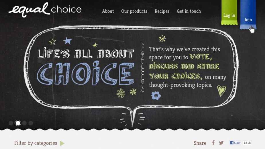 Equal – EqualChoice UI website design
