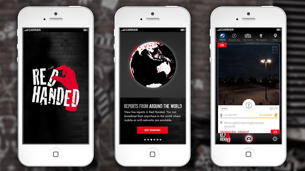 Steve Santer - UX & UI mobile app design - Red Handed