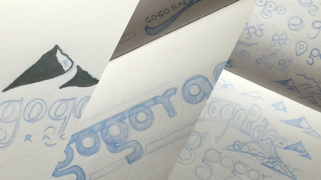 gogorace branding 3 scamps drawings concepts