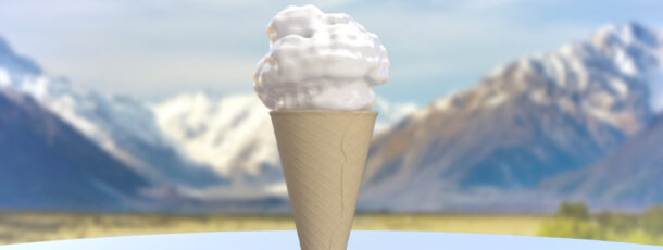 Ice-cream test with x-particles