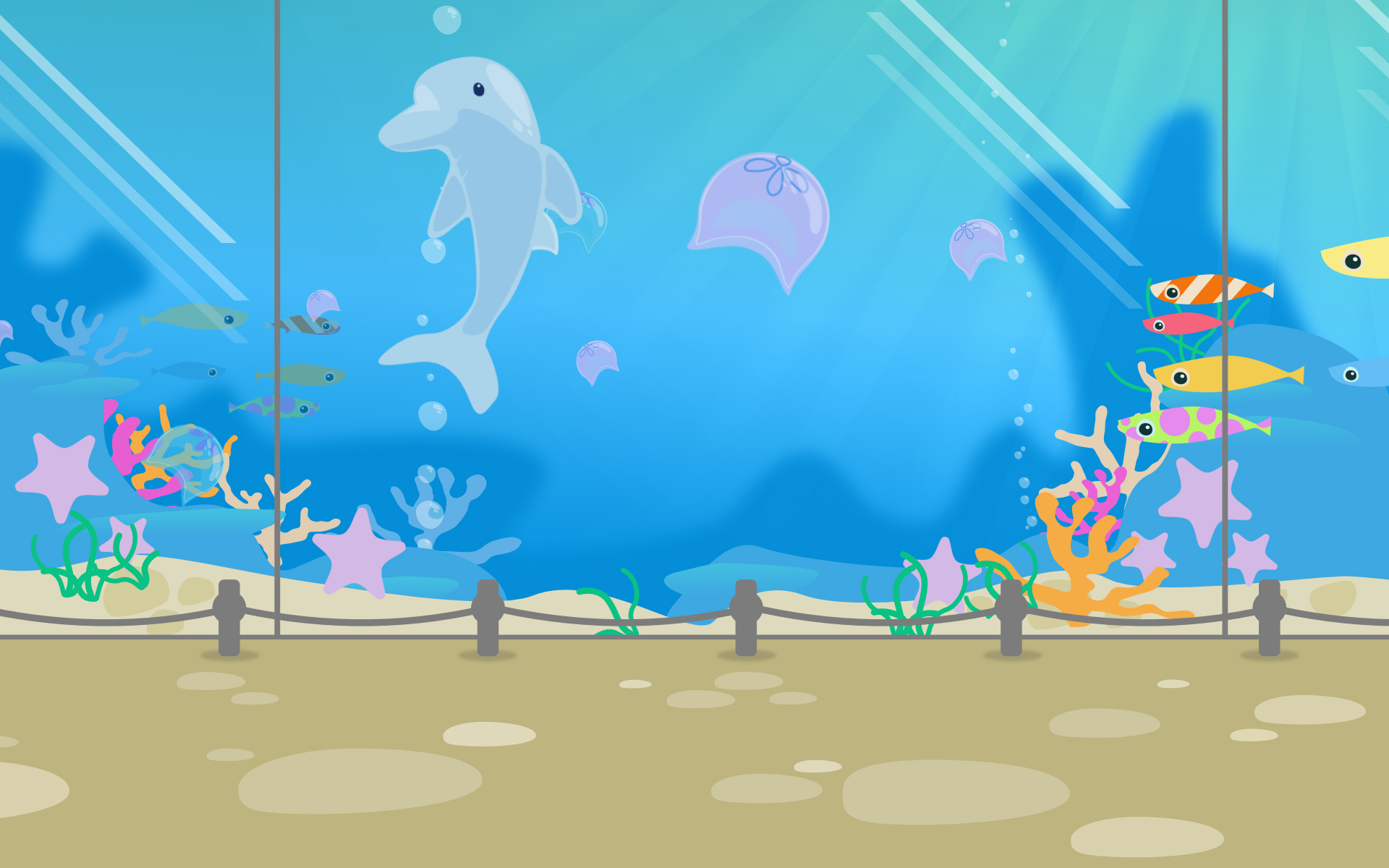 Underwater World Illustration - created in Affinity - for SplashDance