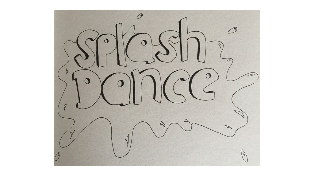 SplashDance logo sketches
