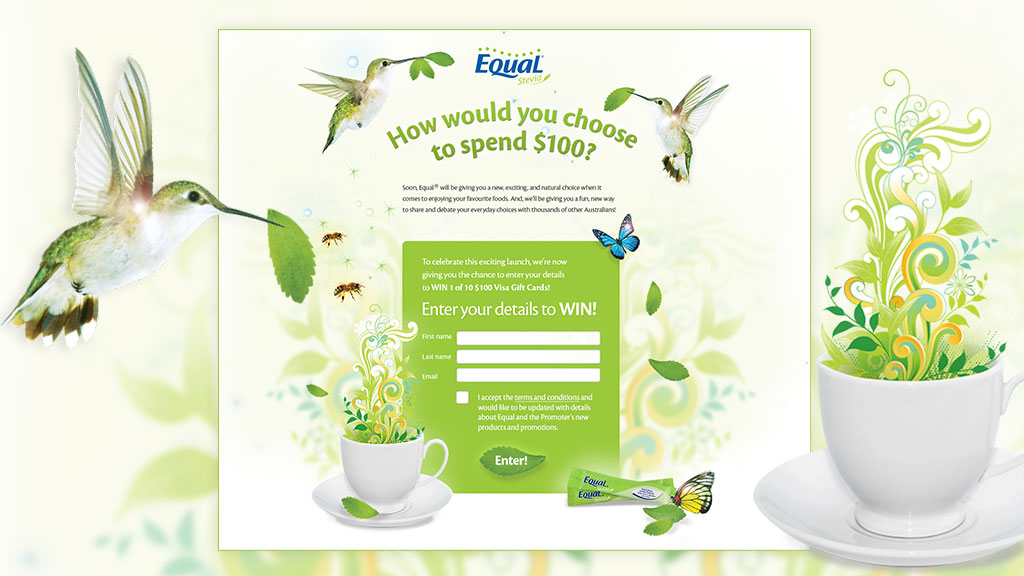 Steve Santer - Equal competition page - Orchard Marketing - Competition
