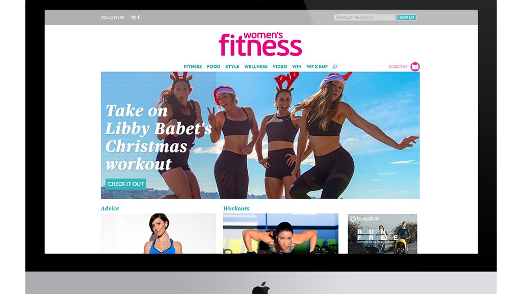 Womens Fitness - Homepage UI Design